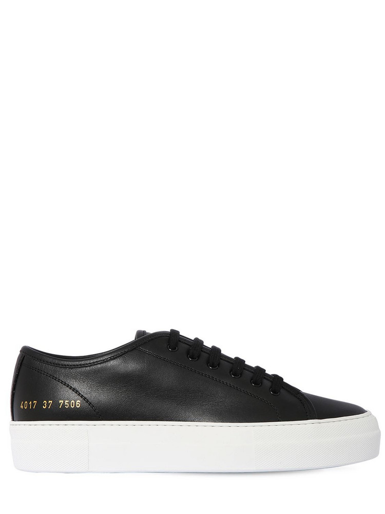 COMMON PROJECTS 40mm Tournament Super Leather Sneakers in black / white