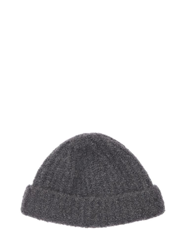 GABRIELA HEARST Lutz Cashmere & Silk Knit Beanie Hat in grey