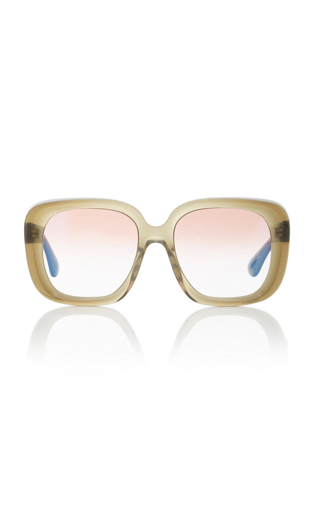 Oliver Peoples Nella Acetate Square-Frame Sunglasses in green