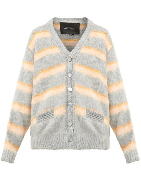 Marc Jacobs - Striped Silk Cardigan - Womens - Orange Multi