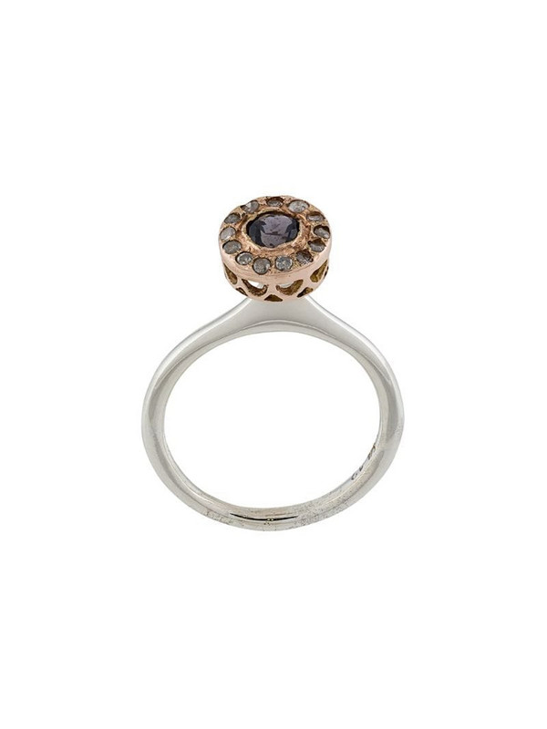 Rosa Maria pavé crystal ring in silver