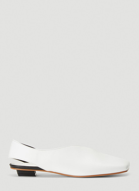 Flat Apartment Square Toe Slip-On Shoes in White size EU - 36