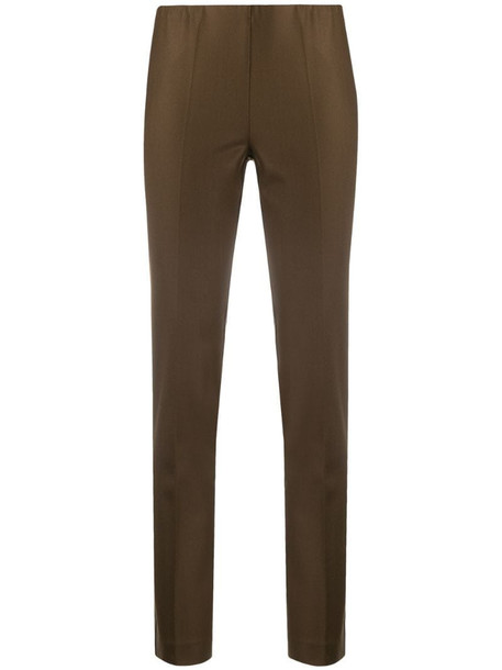 P.A.R.O.S.H. mid-rise slim fit trousers in brown