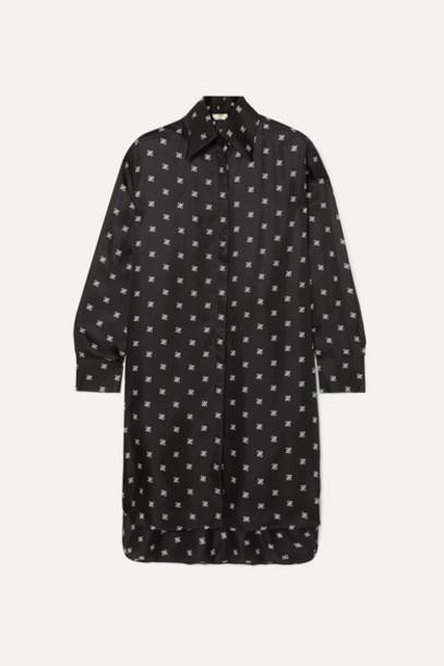 Fendi - Printed Silk-twill Dress - Black