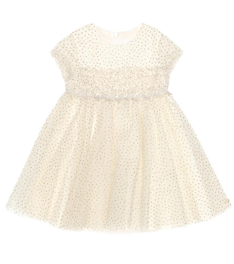 Tartine et Chocolat Tulle dress in white