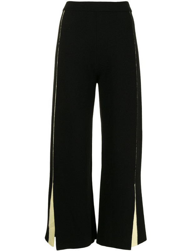 PortsPURE cropped knit trousers in black
