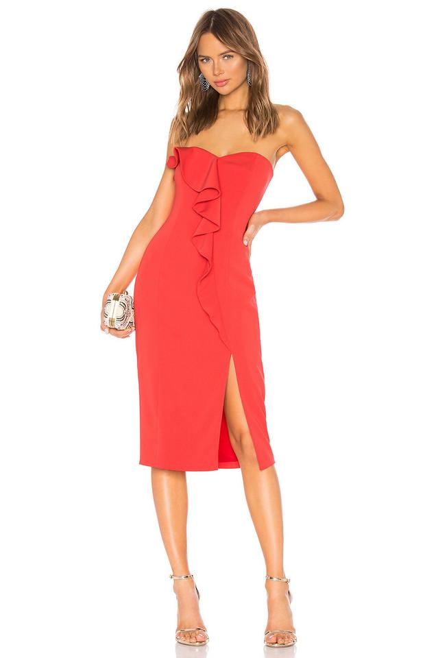 Jay Godfrey Patten Dress in red
