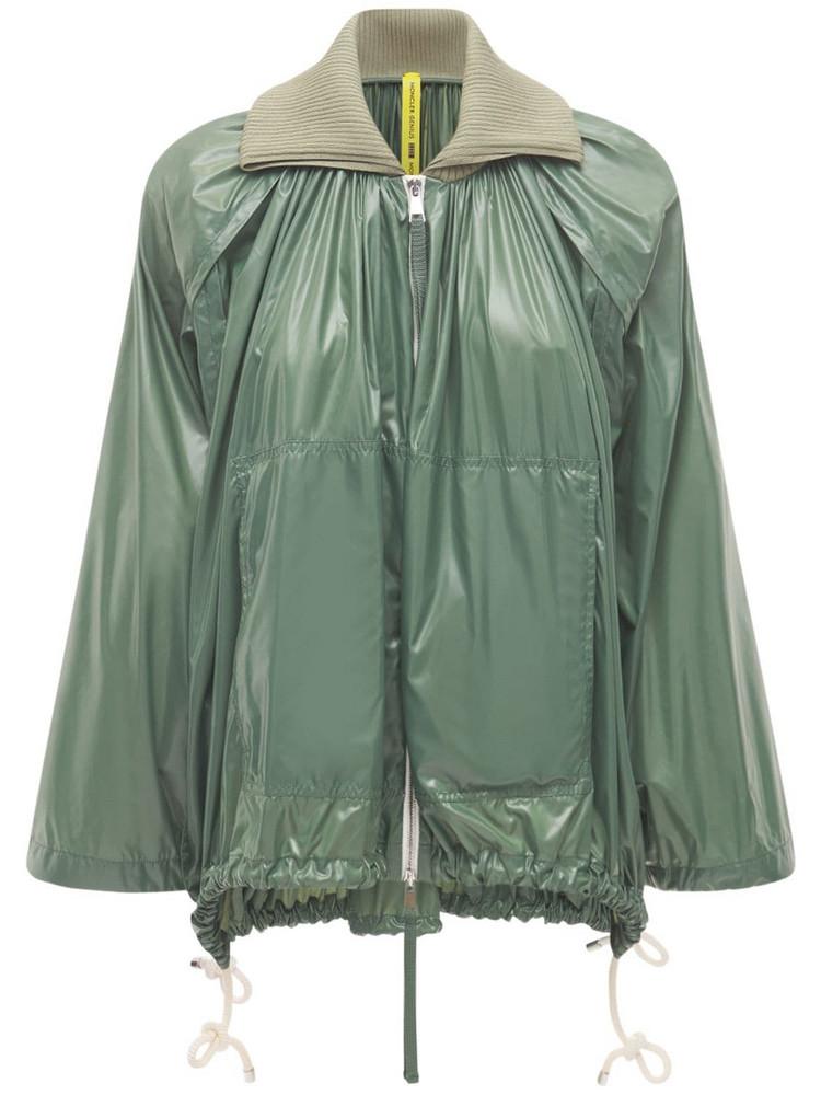 MONCLER GENIUS Diamond Nylon Laqué Short Jacket in green