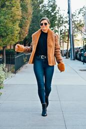 to be bright,blogger,coat,jeans,belt,shoes,sunglasses