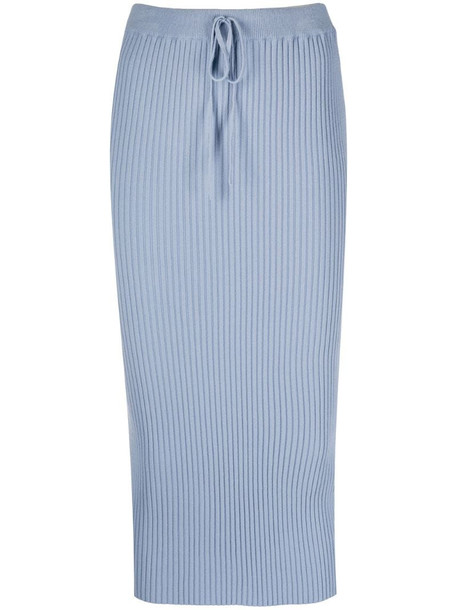 Marques'Almeida ribbed-knit fitted skirt in blue