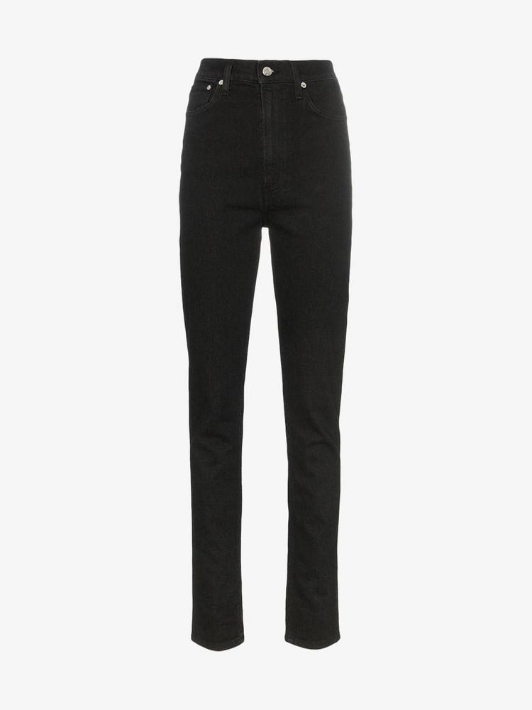 Helmut Lang High-waist slim-fit jeans in black