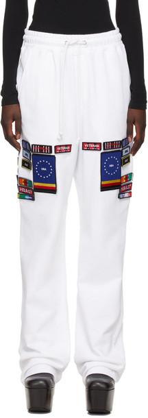 Hood by Air White No.2 'Veteran' Lounge Pants