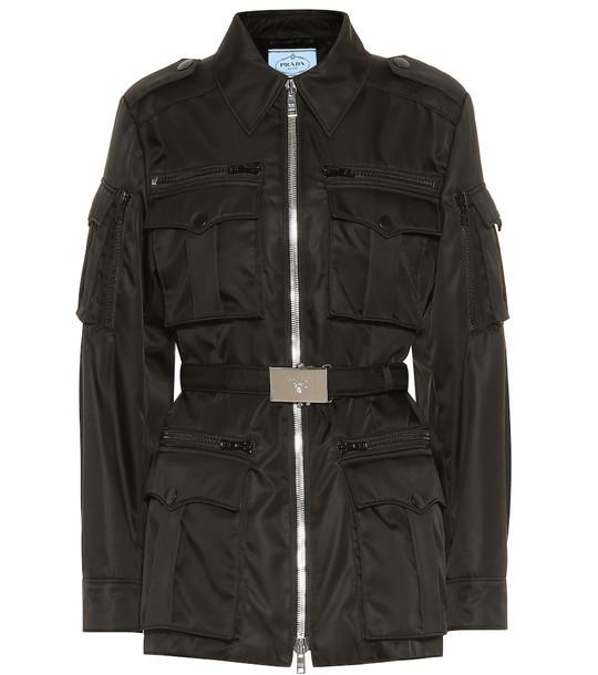Prada Nylon military jacket in black