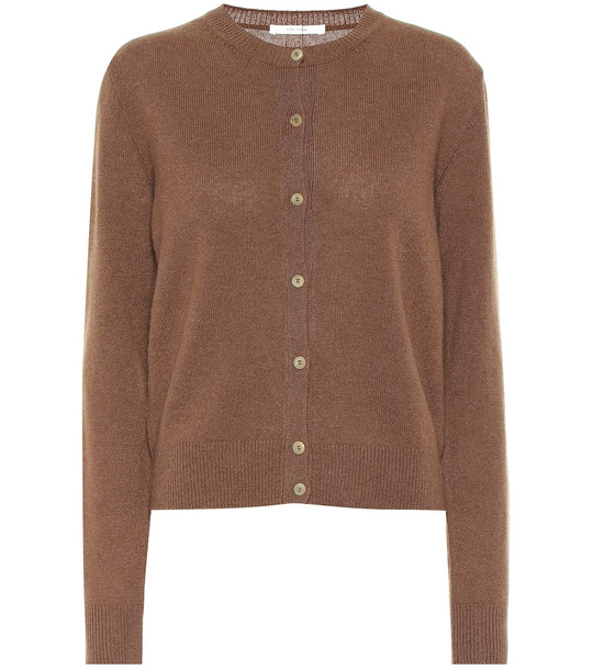 The Row Annamaria cashmere cardigan in brown