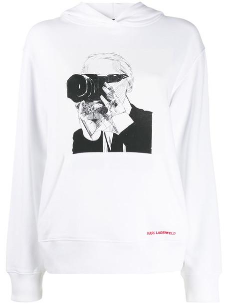 Karl Lagerfeld Karl Legend hoodie in white