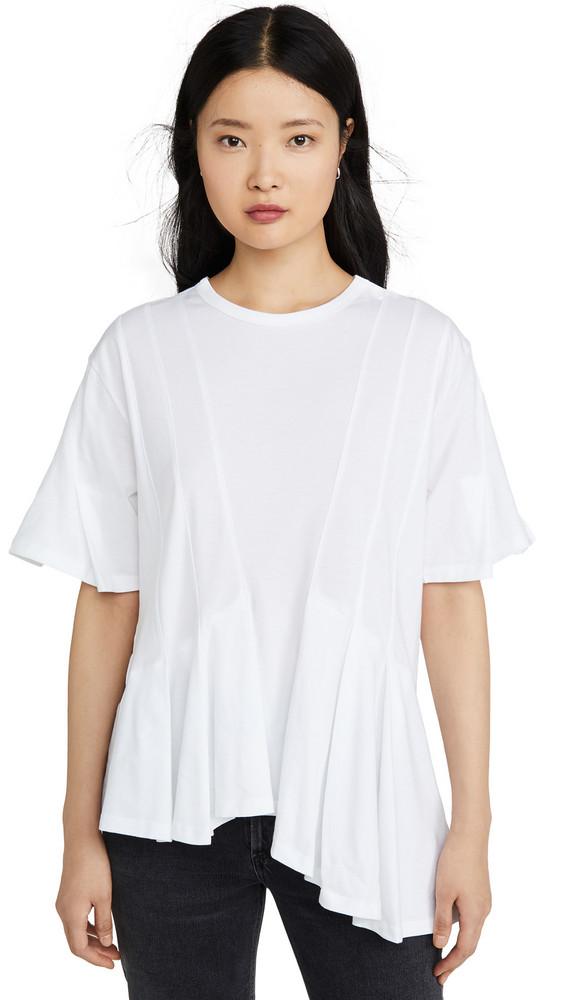 Clu Asymmetrical Paneled Top in white