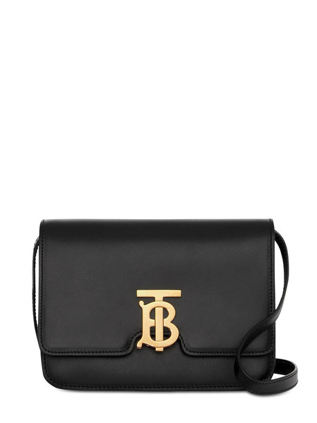 BURBERRY Small Tb Leather Shoulder Bag in black