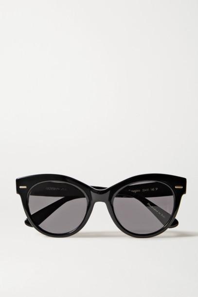 The Row - Oliver Peoples Georgica Round-frame Acetate Sunglasses - Black
