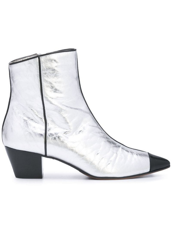L'Autre Chose side zip ankle boots in metallic