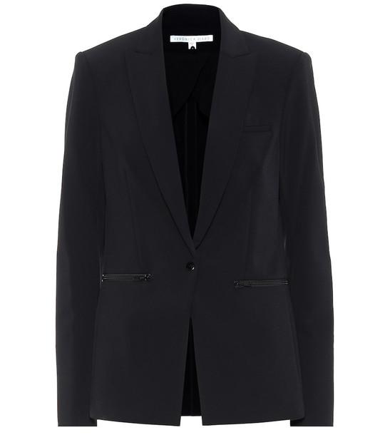 Veronica Beard Suba stretch-crêpe blazer in black