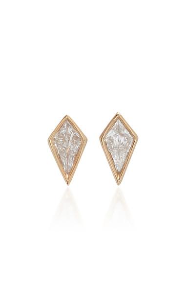 Eva Fehren Ezzat 18K White Gold And Diamond Earrings