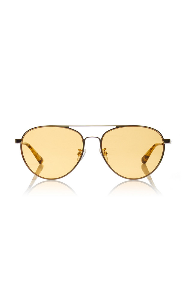MCQ Sunglasses Aviator-Style Metal Sunglasses in yellow