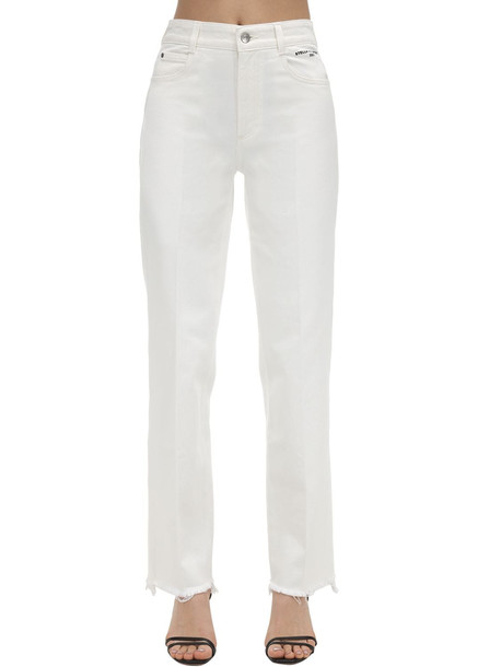 STELLA MCCARTNEY High Waist Cotton Denim Jeans in white