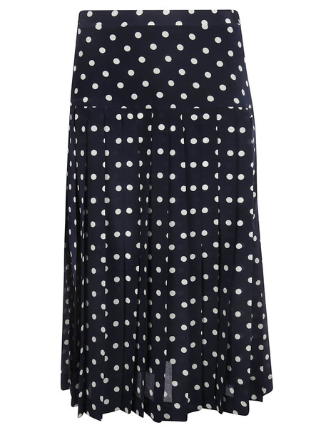 Alessandra Rich Polka Dot Pleated Skirt