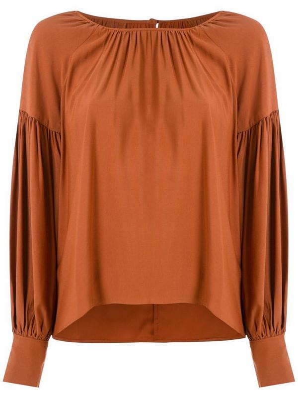 LE SOLEIL D'ETE Salome long sleeves blouse in orange
