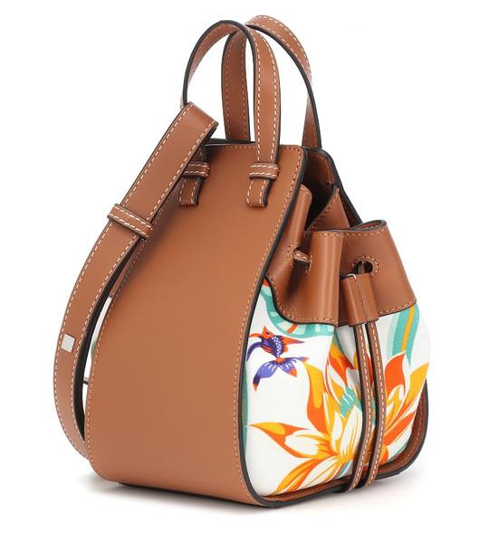Loewe Paula's Ibiza Hammock Mini printed leather shoulder bag in brown