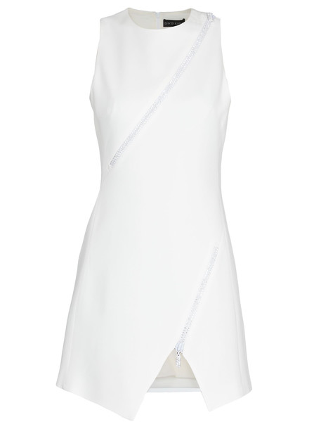 David Koma Dress With Crystals in white