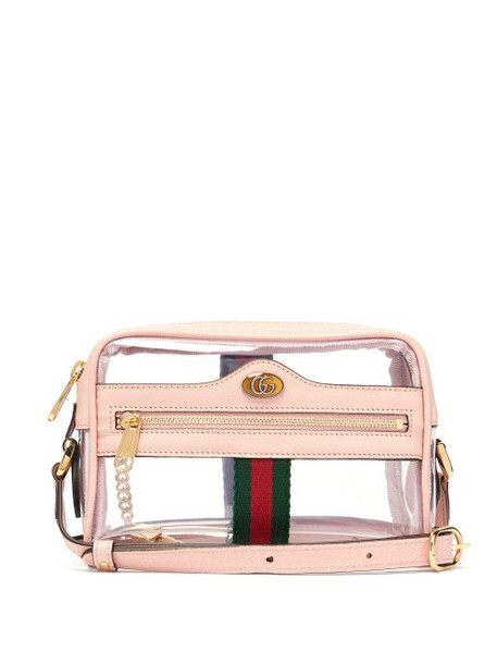 Gucci - Ophidia Mini Pvc And Leather Cross Body Bag - Womens - Light Pink
