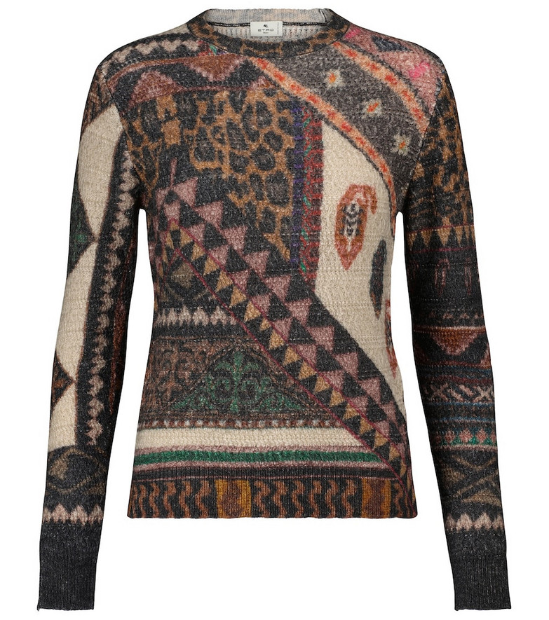ETRO Patchwork wool and alpaca sweater