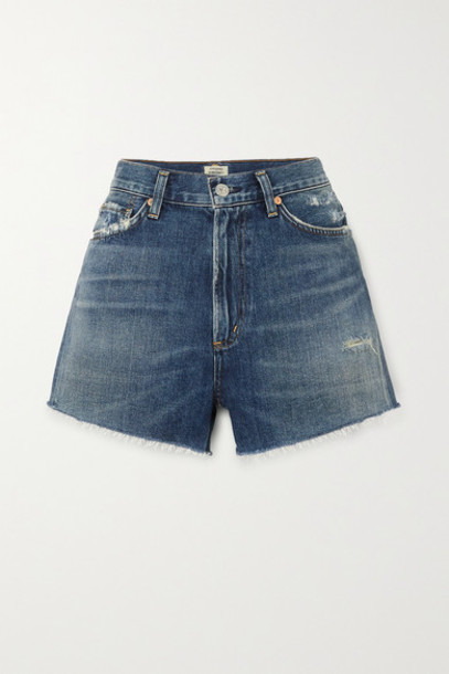 Citizens of Humanity - Kristen Frayed Denim Shorts - Mid denim