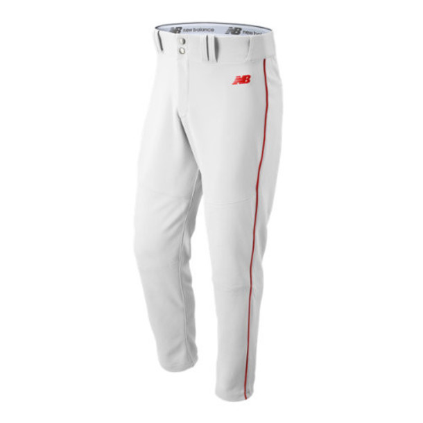 New Balance 116 Men's Charge Baseball Piped Pant - White/Red (BMP116WRD)