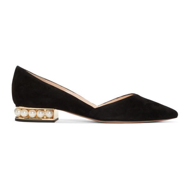 Nicholas Kirkwood Black Casati D'Orsay Ballerina Flats