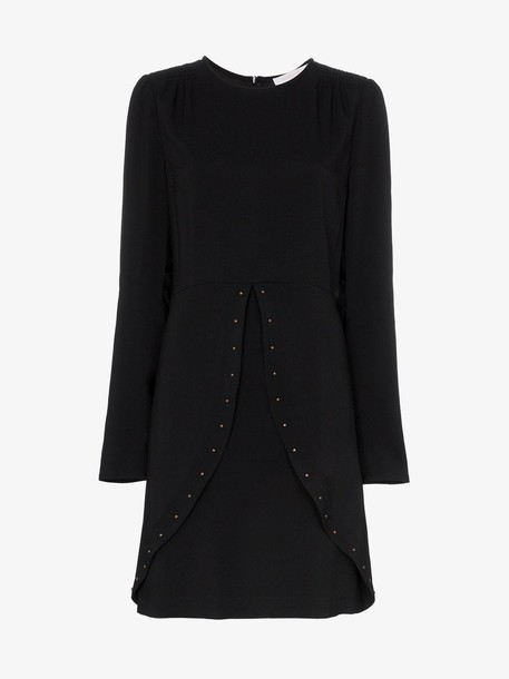 See By Chloé See By Chloé studded slit-detail dress in black