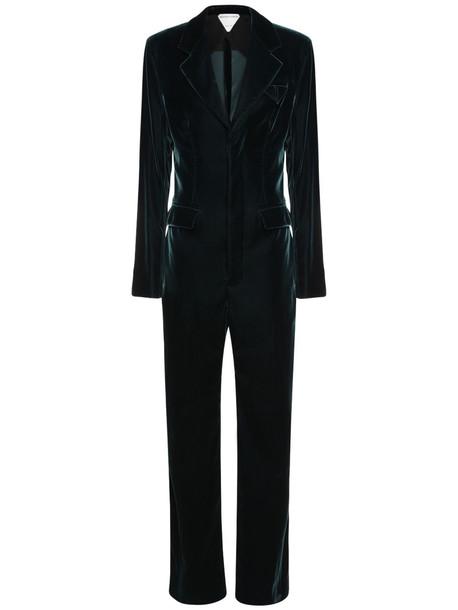 BOTTEGA VENETA Tailored Velvet Jumpsuit in blue