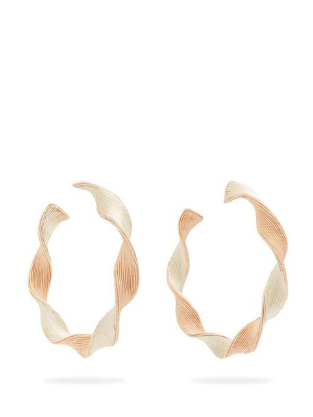 Rebecca De Ravenel - Penelope Twisted Hoop Earrings - Womens - Gold
