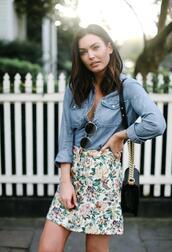 for all things lovely,blogger,top,skirt,shoes,bag,sunglasses,make-up