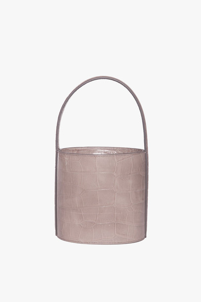 Staud BISSETT BAG | FRENCH GREY CROC EMBOSSED