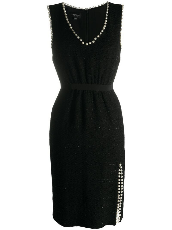 Giambattista Valli embellished fitted dress in black