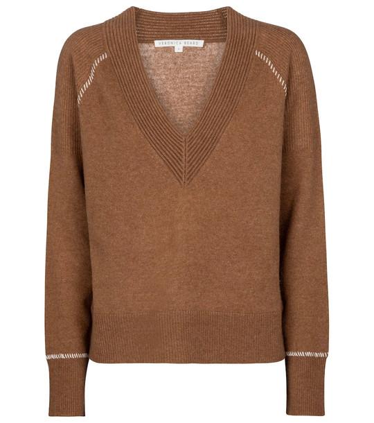 Veronica Beard Preta cashmere sweater in brown