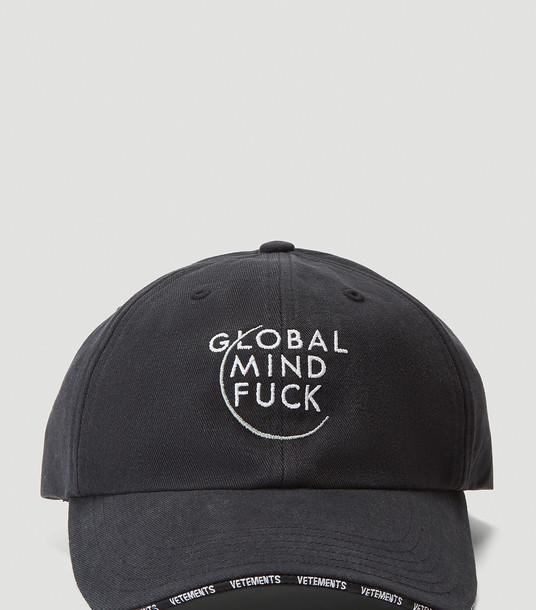 Vetements Hats Women - Global Mind Fuck Cap Black 100% Cotton. One Size