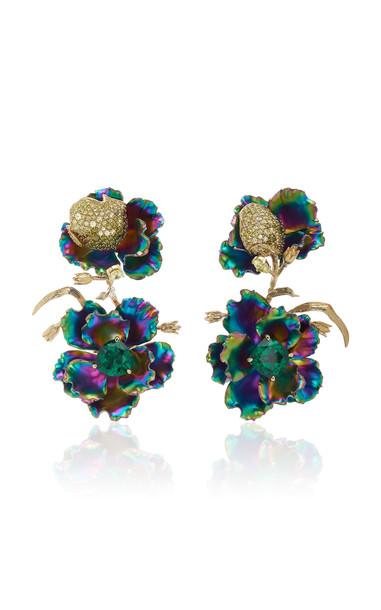 Anabela Chan Rainbow Magnolia Earrings in multi
