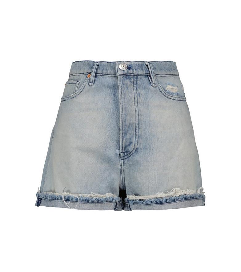 3x1 Sabina girlfriend denim shorts in blue