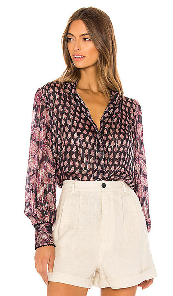 HEMANT AND NANDITA X REVOLVE Kaiyo Blouse in Navy,Pink