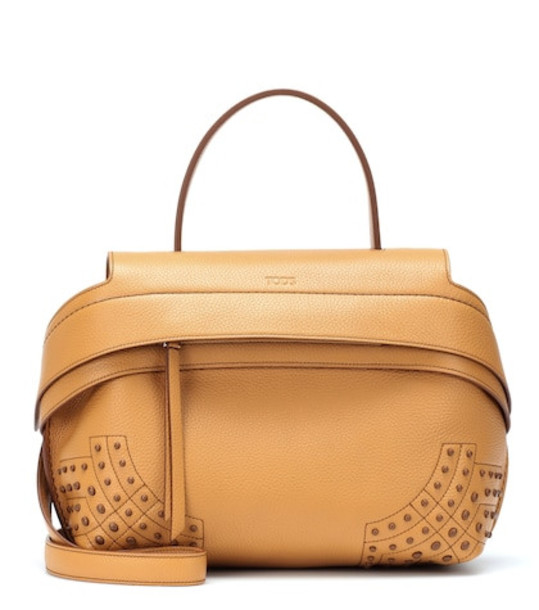 Tod's Wave Medium leather tote in brown