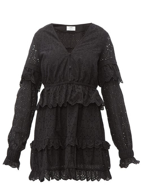 Sir - Amelie Broderie Anglaise Cotton Dress - Womens - Black