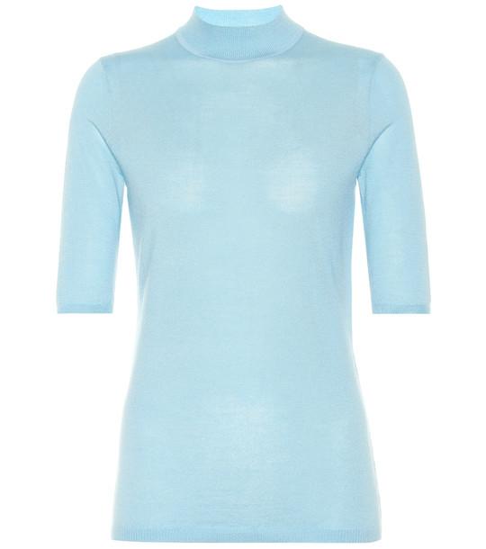 Gabriela Hearst Hugo cashmere and silk sweater in blue
